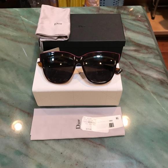 Dior Accessories - Dior Eyeliner Violet Cat Eye Tortoise  Sunglasses